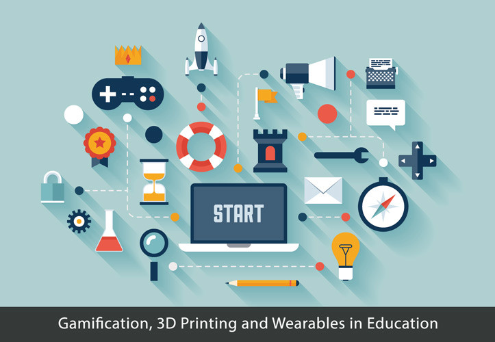 Gamification, 3D Printing and Wearables in Education