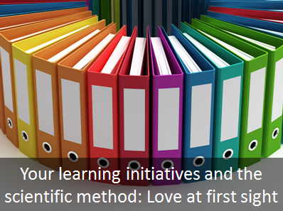 The Scientific Method in Learning Initiatives, Part I