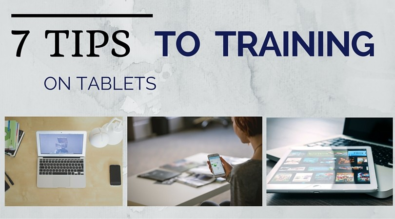 training-on-tablet