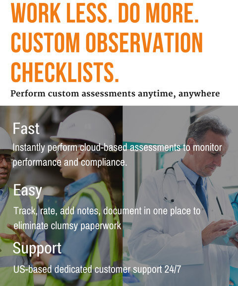 Observational Assessments in the Health Care Sector