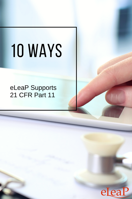 How eLeaP LMS does 21 CFR Part 11