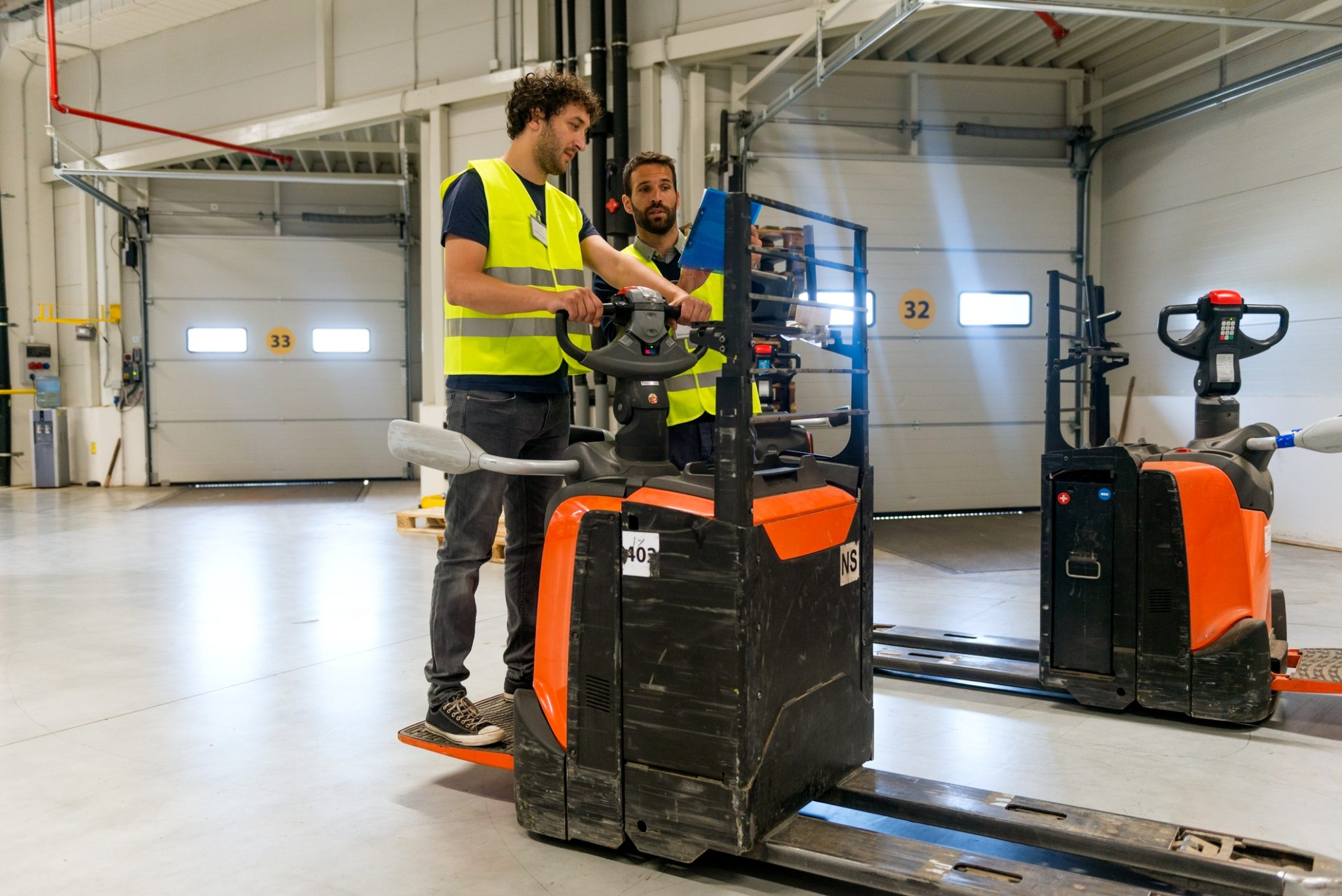 Safety training should be a priority at every company. Worker training on forklift.