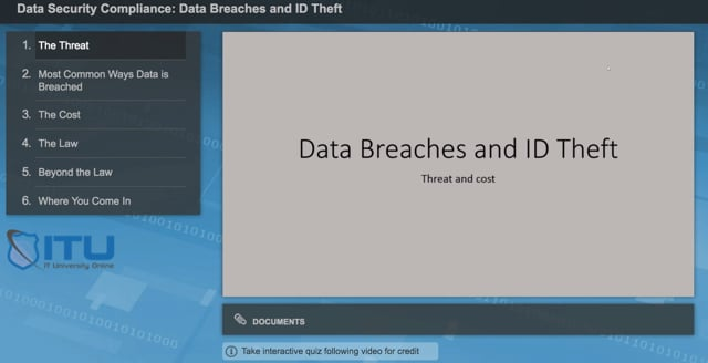 Data Security Compliance: Data Breaches and ID Theft
