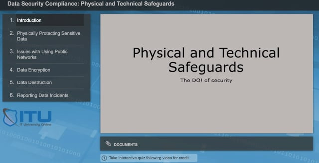 Data Security Compliance: Physical and Technical Safeguards