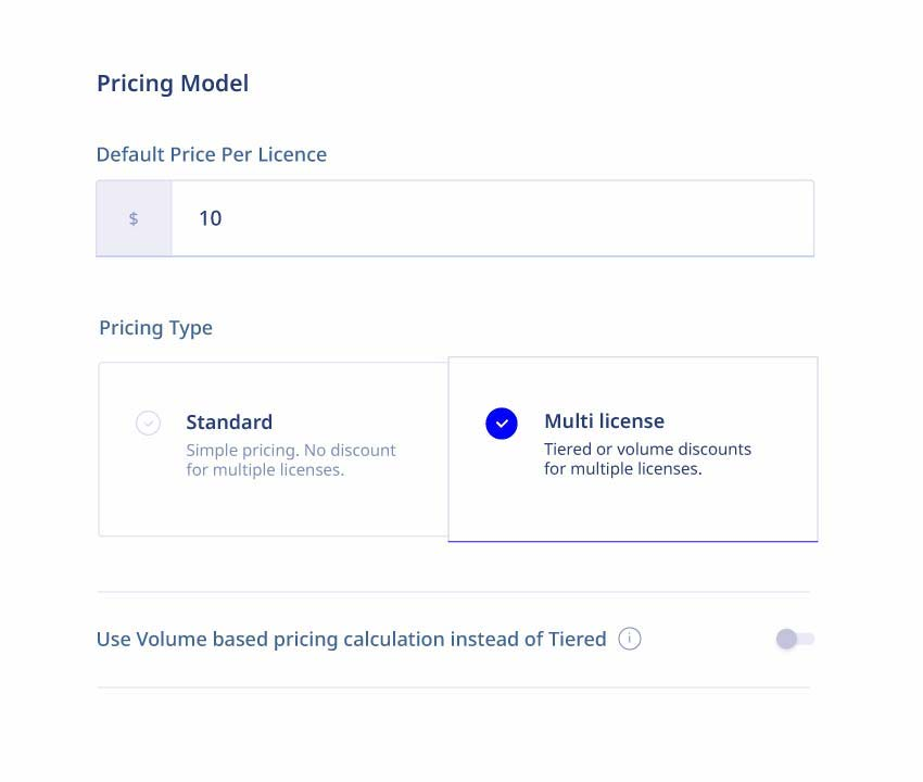 eLeaP LMS app - ecommerce pricing types