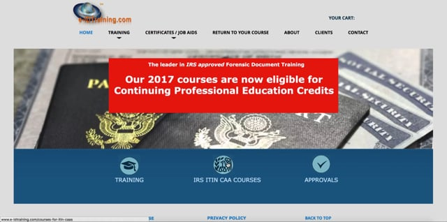 FDR for ITIN CAAs – IRS Forensic Document Training