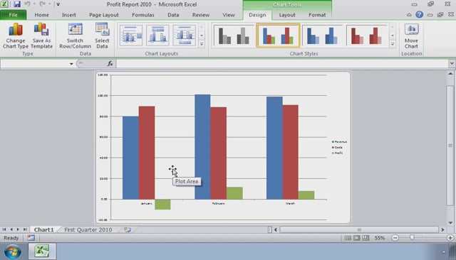 Microsoft Excel 2010: Presenting Data Using Charts