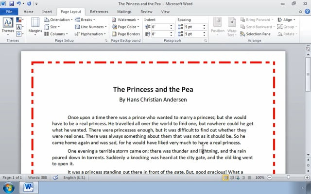 Microsoft Word 2010: Controlling the Appearance of Pages in a Word Document