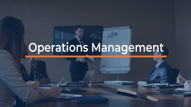 Becoming An Effective Manager: Operations Management