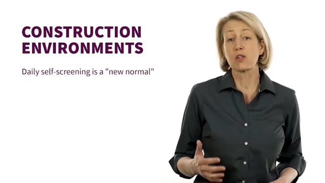 Come Back to Work Safely: Construction