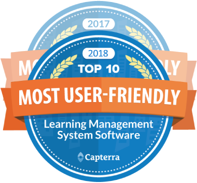 Capterra - Most user friendly LMS for 2 years in a row (2017 and 2018)