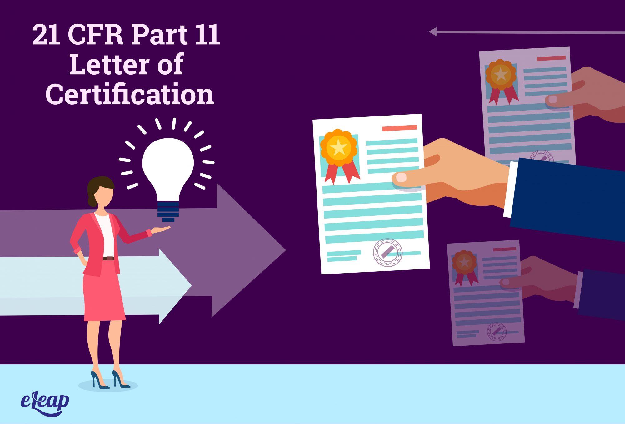 21 CFR Part 11 Letter of Certification