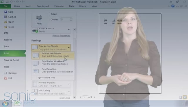 Microsoft Excel 2010: Printing Excel Workbooks