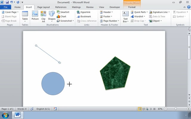 Microsoft Word 2010: Creating Customized Graphic Elements