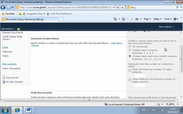 Microsoft Word 2010: Managing Document Versions