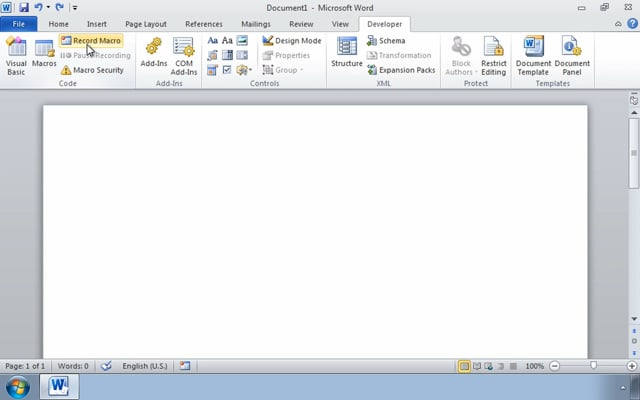 Microsoft Word 2010: Using Macros to Automate Tasks
