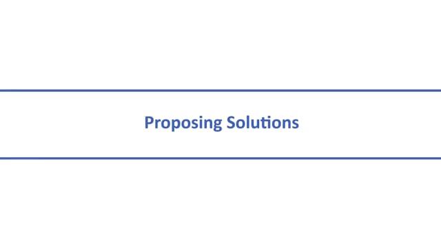 Negotiation Skills: Proposing Solutions