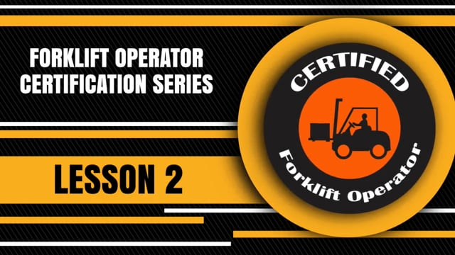 Forklift Operator Certification 2: Stability