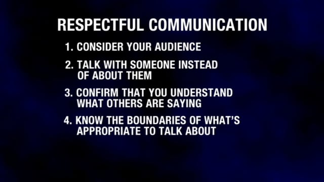 Respectful Workplace Communication