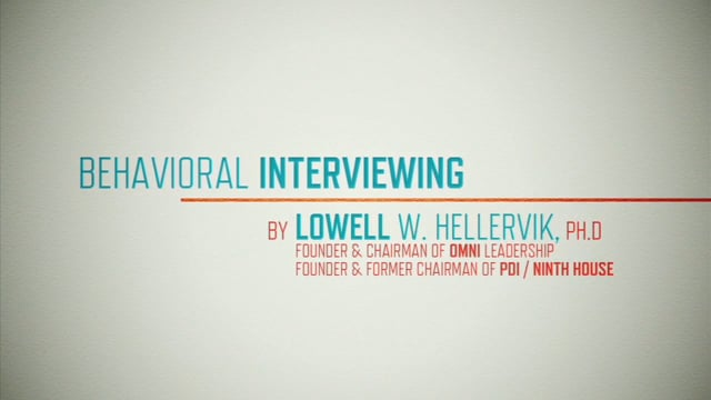 Behavioral Based Interviewing: Interview Basics