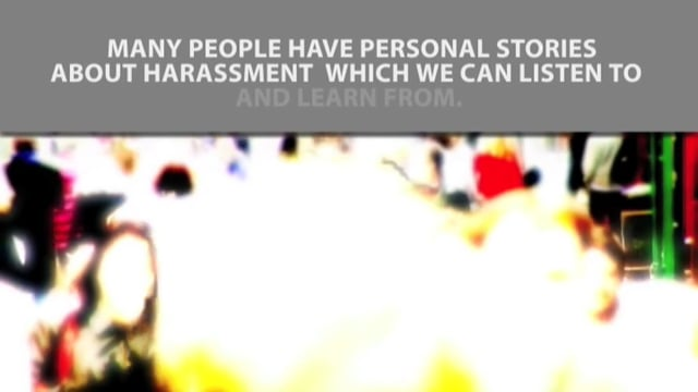 Harassment Hurts: It's Personal