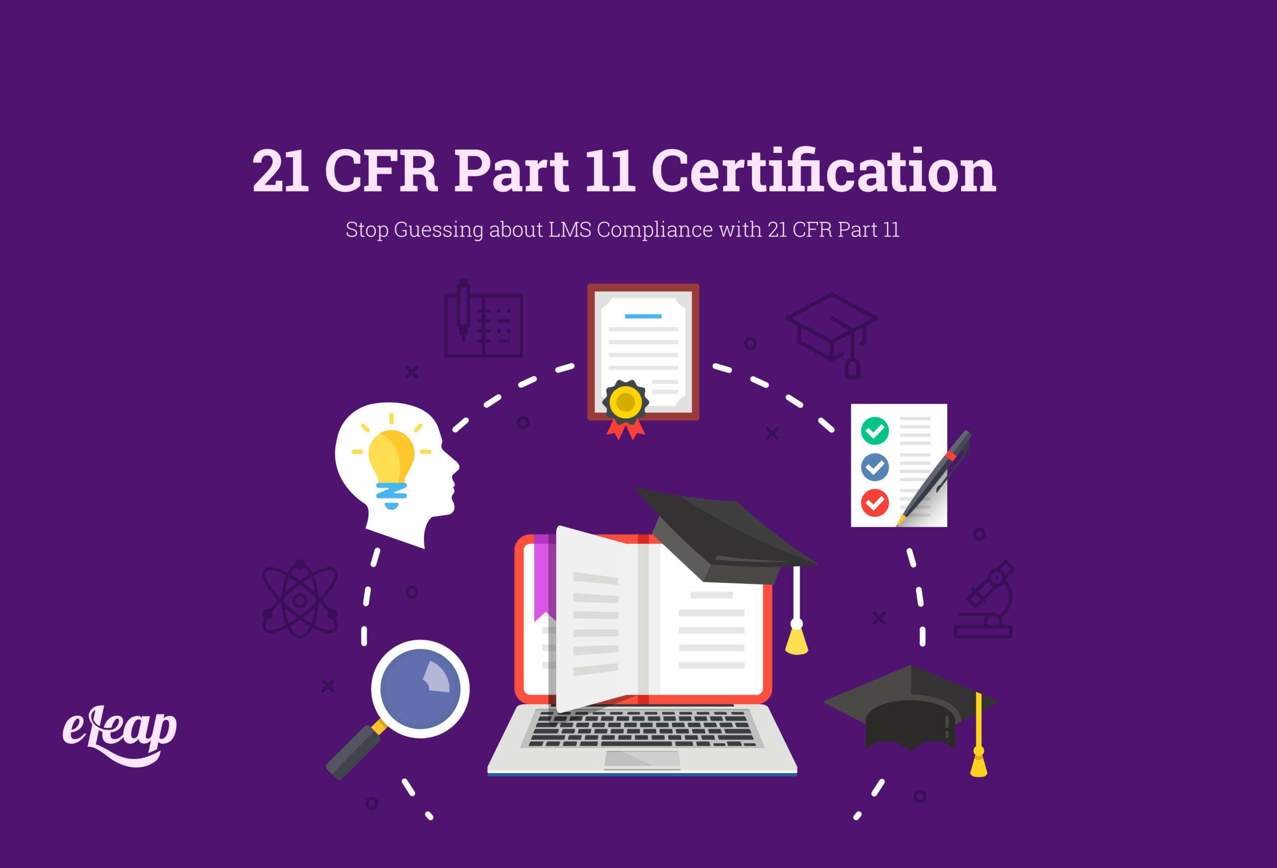 21 CFR Part 11 Certification